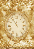 Νέο year& x27 ρολόι του s Στοκ εικόνες με δικαίωμα ελεύθερης χρήσης