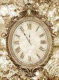 Νέο year& x27 ρολόι του s Στοκ Φωτογραφία
