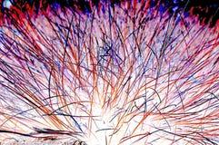 Νήματα οπτικών ινών στα διάφορα χρώματα Στοκ εικόνα με δικαίωμα ελεύθερης χρήσης