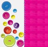 νήμα βελόνων κουμπιών Στοκ εικόνες με δικαίωμα ελεύθερης χρήσης