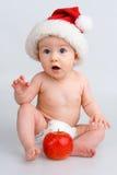 νήπιο Χριστουγέννων ΚΑΠ έκπ Στοκ Εικόνα
