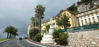 Νίκαια - αρχιτεκτονική κατά μήκος Promenade des Anglais Στοκ εικόνα με δικαίωμα ελεύθερης χρήσης