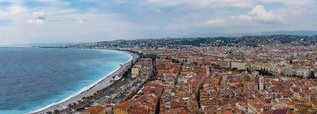 Νίκαια, Γαλλία άνωθεν Στοκ εικόνα με δικαίωμα ελεύθερης χρήσης