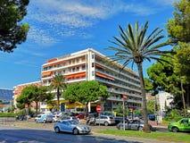 Νίκαια, ο περίπατος des Anglais στοκ φωτογραφία με δικαίωμα ελεύθερης χρήσης