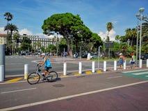 Νίκαια, ο περίπατος des Anglais στοκ εικόνα