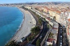 Νίκαια - Promenade des Anglais Στοκ Εικόνες