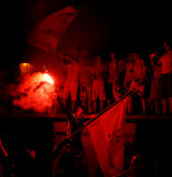 νίκη ανεμιστήρων εορτασμ&omicr Στοκ εικόνες με δικαίωμα ελεύθερης χρήσης