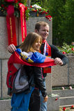 Νίκη ημέρα &#x28 Στις 9 Μαΐου &#x29  στο πάρκο Treptower Βερολίνο Γερμανία Στοκ Φωτογραφία