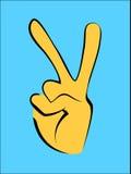 νίκη ουρανού σημαδιών μονοπατιών εικόνας ελευθερίας ανασκόπησης goldfinger Στοκ Εικόνα