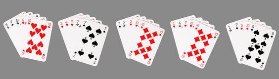 νίκη πόκερ χεριών Στοκ Εικόνες