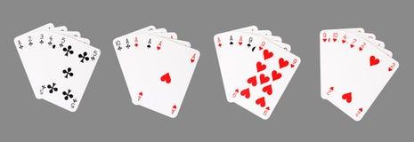 νίκη πόκερ χεριών Στοκ φωτογραφίες με δικαίωμα ελεύθερης χρήσης