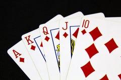 νίκη πόκερ χεριών Στοκ εικόνα με δικαίωμα ελεύθερης χρήσης