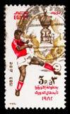 Νίκη στο αφρικανικό κύπελλο ποδοσφαίρου, αθλητισμός ποδοσφαίρου serie, circa 1983 Στοκ Φωτογραφία