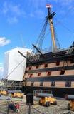 Νίκη HMS που επισκευάζεται Στοκ φωτογραφίες με δικαίωμα ελεύθερης χρήσης