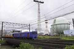 19 08 2015 Ναγκασάκι Ιαπωνία Τραίνο από το Ναγκασάκι Τραίνο του Ναγκασάκι Στοκ εικόνες με δικαίωμα ελεύθερης χρήσης
