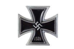 Ναζιστικός γερμανικός σταυρός σιδήρου μεταλλίων Στοκ φωτογραφία με δικαίωμα ελεύθερης χρήσης