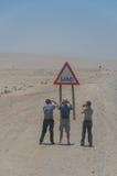Ναμίμπια - επισκεμμένος τουρίστας Στοκ εικόνες με δικαίωμα ελεύθερης χρήσης