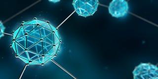 νανοτεχνολογία Στοκ Εικόνα