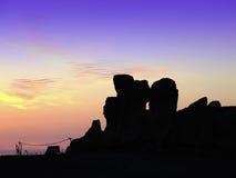 ναοί ηλιοβασιλέματος Στοκ εικόνες με δικαίωμα ελεύθερης χρήσης
