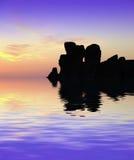 ναοί ηλιοβασιλέματος Στοκ Φωτογραφίες