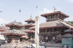Ναοί με τα περιστέρια στο Νεπάλ στοκ φωτογραφία με δικαίωμα ελεύθερης χρήσης