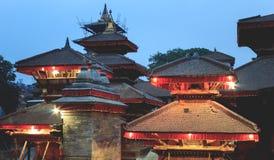Ναοί στην πόλη του Κατμαντού, Νεπάλ Στοκ φωτογραφία με δικαίωμα ελεύθερης χρήσης