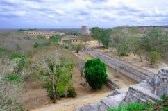 Ναοί στις των Μάγια καταστροφές Uxmal Στοκ φωτογραφίες με δικαίωμα ελεύθερης χρήσης