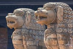 Ναοί της πλατείας Durbar σε Bhaktapur, Κατμαντού, Νεπάλ Στοκ Φωτογραφία