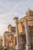 Ναοί της Ρώμης Antoninus και Faustina Στοκ φωτογραφία με δικαίωμα ελεύθερης χρήσης