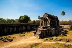 Ναοί Angkor wat στην Καμπότζη Στοκ εικόνα με δικαίωμα ελεύθερης χρήσης