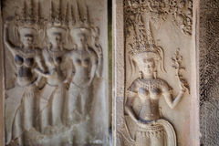 Ναοί Angkor wat στην Καμπότζη Στοκ φωτογραφία με δικαίωμα ελεύθερης χρήσης