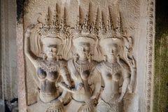 Ναοί Angkor wat στην Καμπότζη Στοκ Εικόνες