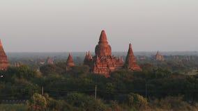 Ναοί Bagan στο Μιανμάρ απόθεμα βίντεο
