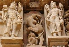 ναοί khajuraho της Ινδίας Στοκ Εικόνα