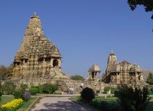 ναοί khajuraho της Ινδίας Στοκ εικόνα με δικαίωμα ελεύθερης χρήσης