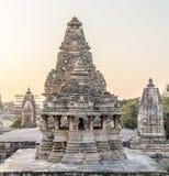 ναοί khajuraho της Ινδίας Στοκ Εικόνες