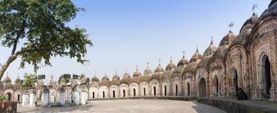 108 ναοί Shiva Kalna, Burdwan Στοκ Εικόνες