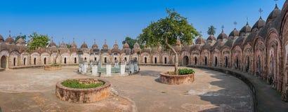 108 ναοί Shiva Kalna, Burdwan Στοκ φωτογραφία με δικαίωμα ελεύθερης χρήσης