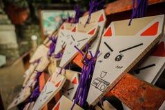 ΝΑΡΑ ΙΑΠΩΝΙΑ στις μικρές ξύλινες πινακίδες που χρησιμοποιούνται για τους οπαδούς shinto 3 Στοκ εικόνες με δικαίωμα ελεύθερης χρήσης