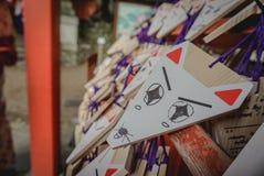 ΝΑΡΑ ΙΑΠΩΝΙΑ στις μικρές ξύλινες πινακίδες που χρησιμοποιούνται για τους οπαδούς shinto 4 Στοκ εικόνα με δικαίωμα ελεύθερης χρήσης