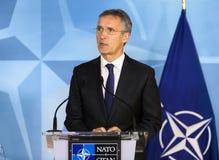 ΝΑΤΟ γενικός γραμματέας Jens Stoltenberg Στοκ Φωτογραφίες