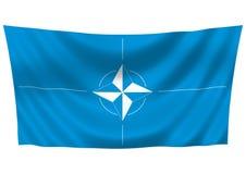 ΝΑΤΟ σημαιών Στοκ φωτογραφία με δικαίωμα ελεύθερης χρήσης