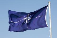 ΝΑΤΟ σημαιών Στοκ φωτογραφίες με δικαίωμα ελεύθερης χρήσης
