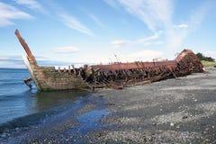 Ναυάγιο κατά μήκος της ακτής στους χώρους Punta, Χιλή Στοκ φωτογραφίες με δικαίωμα ελεύθερης χρήσης