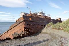 Ναυάγιο κατά μήκος της ακτής στους χώρους Punta, Χιλή Στοκ Φωτογραφίες