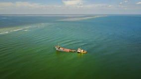 Ναυάγιο στην ακτή Μαύρης Θάλασσας, Ρουμανία Στοκ Εικόνες