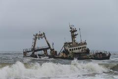 Ναυάγιο στην ακτή Skelleton (Ναμίμπια) Στοκ Φωτογραφίες