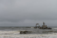 Ναυάγιο στην ακτή Skelleton (Ναμίμπια) Στοκ Εικόνες