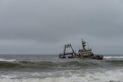 Ναυάγιο στην ακτή Skelleton (Ναμίμπια) Στοκ εικόνα με δικαίωμα ελεύθερης χρήσης