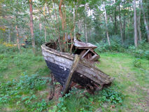 Ναυάγιο στο δάσος Στοκ εικόνα με δικαίωμα ελεύθερης χρήσης